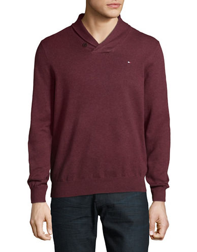 Tommy Hilfiger Signature Cotton Sweater-RED-XX-Large