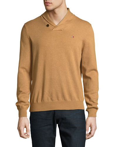 Tommy Hilfiger Signature Cotton Sweater-ORANGE-XX-Large