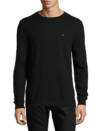 Tommy Hilfiger Cotton Sweatshirt-BLACK-X-Large