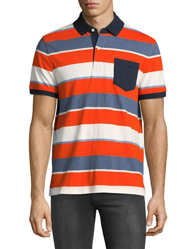 Tommy Hilfiger Tillman Striped Polo-ORANGE-Large