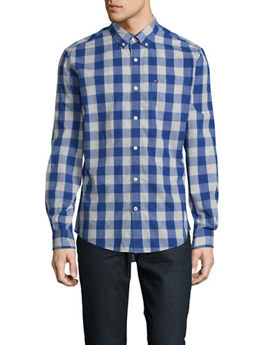 Tommy Hilfiger Whitman Check Sport Shirt-BLUE-X-Large