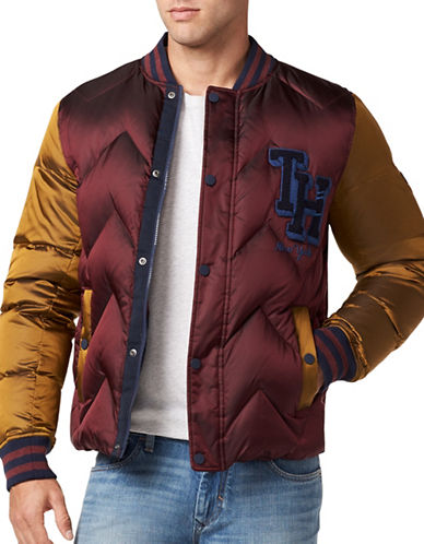 Tommy Jeans Down Varsity Bomber-PURPLE-Medium