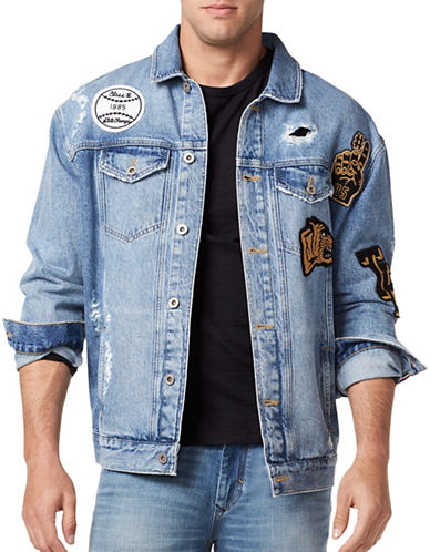 Tommy Jeans Classic Destroyed Denim Jacket-BLUE-XX-Large