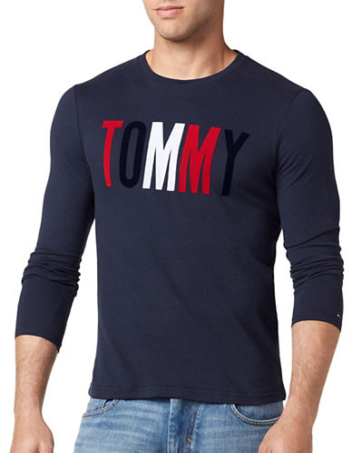 Tommy Jeans Basic Logo Cotton Tee-BLACK-Small
