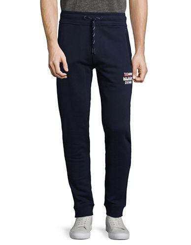 Tommy Jeans Logo Cotton Sweatpants-BLACK-XX-Large