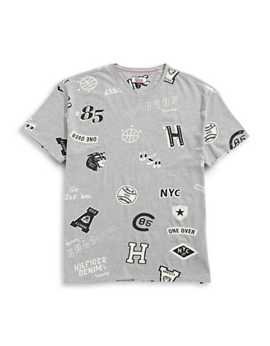 Tommy Jeans All-Over Graphic T-Shirt-NAVY-XX-Large