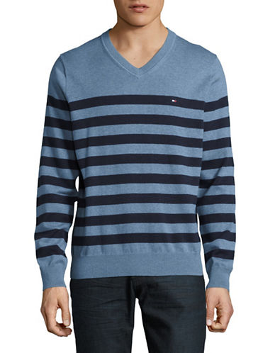 Tommy Hilfiger Signature Striped Sweater-DARK GREY-Small