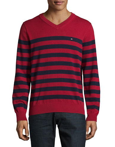 Tommy Hilfiger Signature Striped Sweater-RED-Small