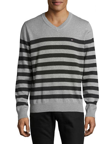 Tommy Hilfiger Signature Striped Sweater-GREY-X-Large