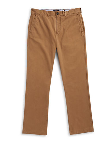 Tommy Hilfiger Classic Fit Chinos-BROWN-38X36