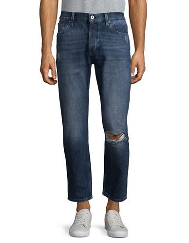 Tommy Jeans Randy Tapered Distressed Jeans-BLUE-32X32