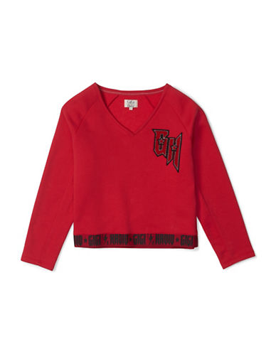 Tommy Hilfiger Long Sleeve Sweater-RED-Small