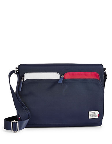Tommy Hilfiger Flap Messenger Bag-NAVY-One Size