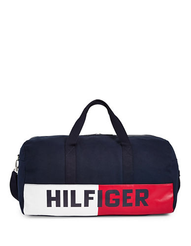 Tommy Hilfiger Flag Duffle Bag-NAVY-One Size