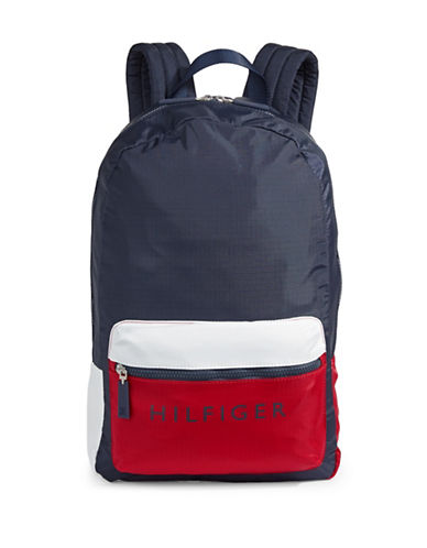 Tommy Hilfiger Classic Colourblock Backpack-NAVY-One Size