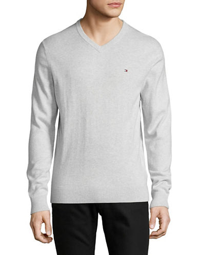 Tommy Hilfiger Basic Sweater-GREY-XX-Large