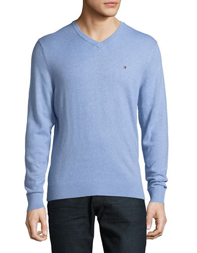 Tommy Hilfiger Basic Sweater-BLUE-X-Large