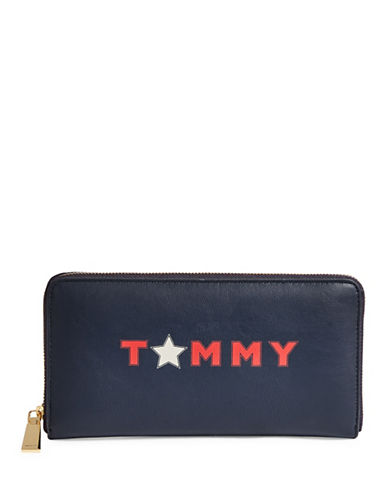 Tommy Hilfiger Star Logo Wallet-BLUE-One Size