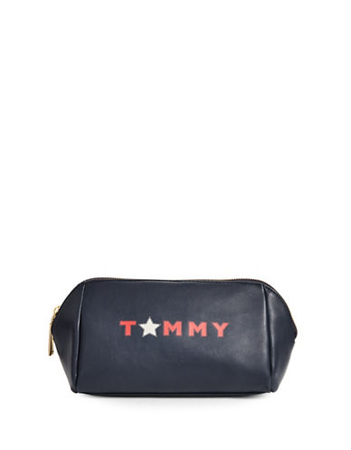Tommy Hilfiger Zippered Makeup Bag-BLUE-One Size