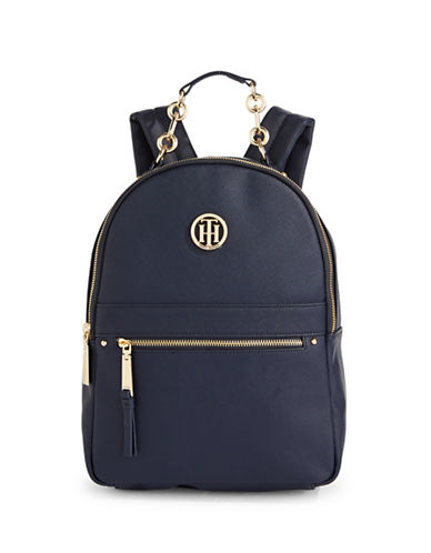 Tommy Hilfiger Hardware Trim Backpack-BLUE-One Size