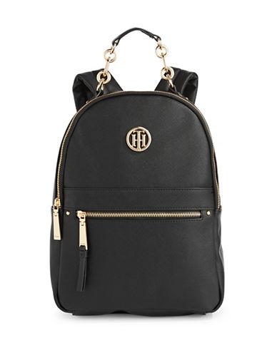 Tommy Hilfiger Hardware Trim Backpack-BLACK-One Size