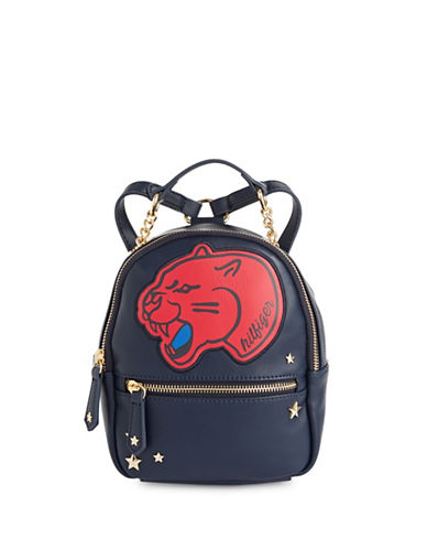 Tommy Hilfiger Tiger Patch Mini Backpack-BLUE-One Size