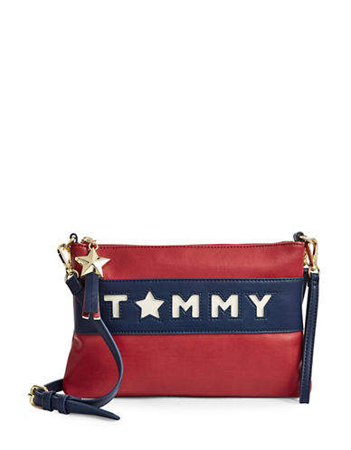 Tommy Hilfiger Logo Crossbody Bag-BLUE-One Size