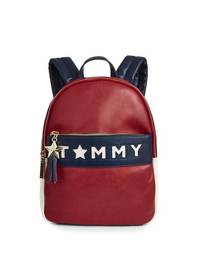 Tommy Hilfiger Logo Zip Backpack-BLUE-One Size