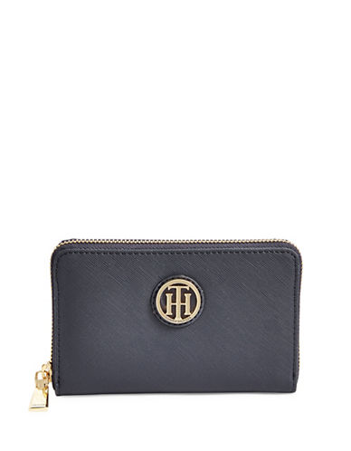 Tommy Hilfiger Logo Plaque Wallet-BLUE-One Size