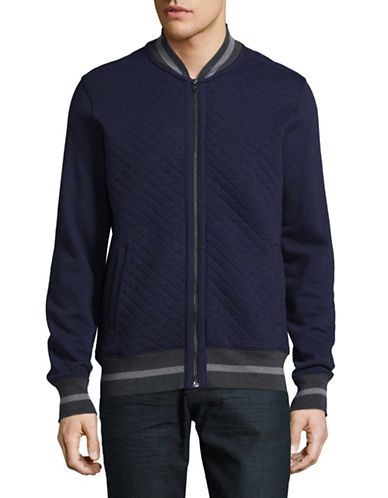 Tommy Hilfiger Quilted Bomber Jacket-BLUE-XX-Large