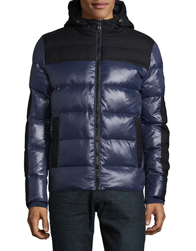 Tommy Hilfiger Sasha Down Hooded Bomber Jacket-BLUE-Large