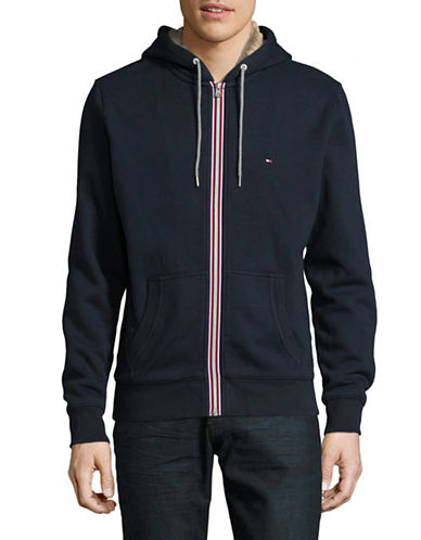 Tommy Hilfiger Sasha Cotton Hoodie Jacket-BLUE-XX-Large