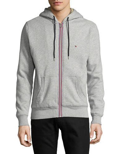 Tommy Hilfiger Sasha Cotton Hoodie Jacket-GREY-X-Large