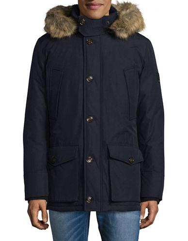 Tommy Hilfiger Faux Fur Down-Fill Jacket-BLUE-Medium