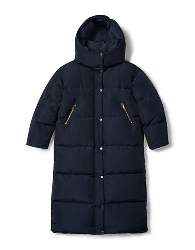 Tommy Hilfiger Tommy x Gigi Long Packable Puffer Jacket-BLUE-Small