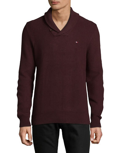 Tommy Hilfiger Crossover Cotton Pullover-RED-Medium