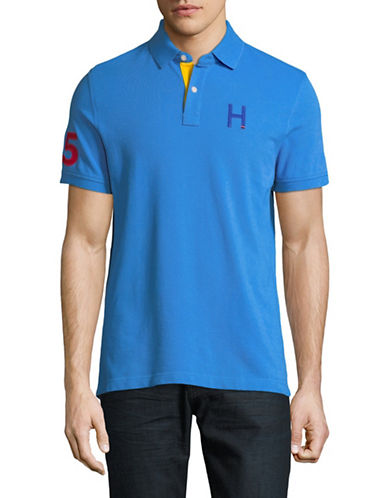 Tommy Hilfiger Flanders Cotton Polo-BLUE-Small