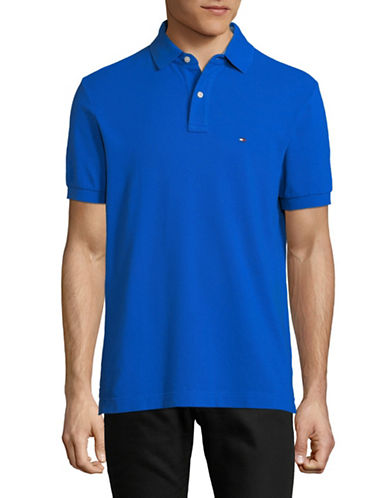 Tommy Hilfiger Ivy Cotton Polo-BLUE-X-Large
