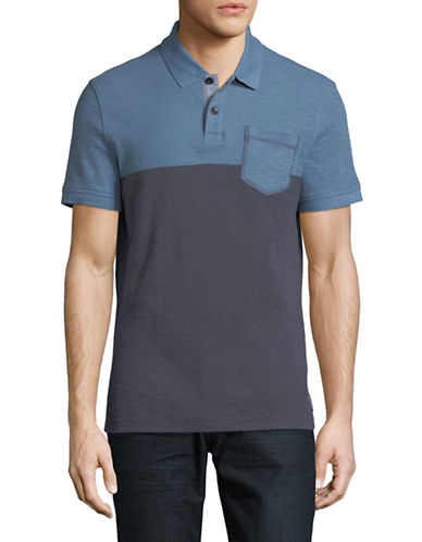 Tommy Hilfiger Chaplan Cotton Polo-BLUE-Medium