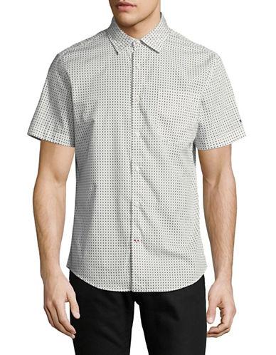 Tommy Hilfiger Diamond Cotton Sportshirt-GREY-Medium