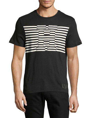Tommy Hilfiger Illusion Cotton Tee-BLACK-Small