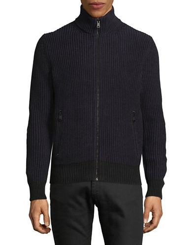 Tommy Hilfiger Marcus Full Zip Cotton Cardigan-BLUE-Small