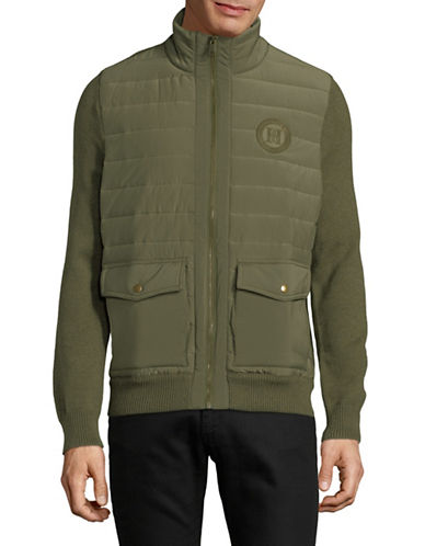 Tommy Hilfiger Monument Mixed Media Cotton Jacket-GREEN-Small