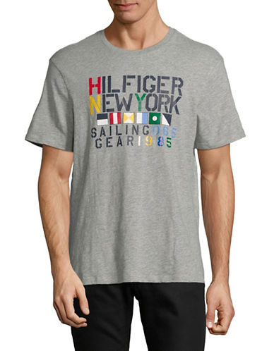 Tommy Hilfiger Graphic Cotton Tee-GREY-Medium