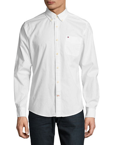 Tommy Hilfiger Capote Cotton Sport Shirt-WHITE-Large