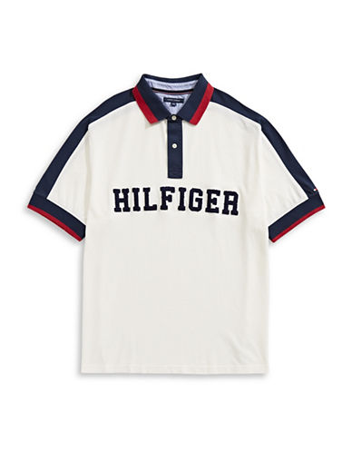 Tommy Hilfiger Jessie Logo Cotton Polo-WHITE-5X Big