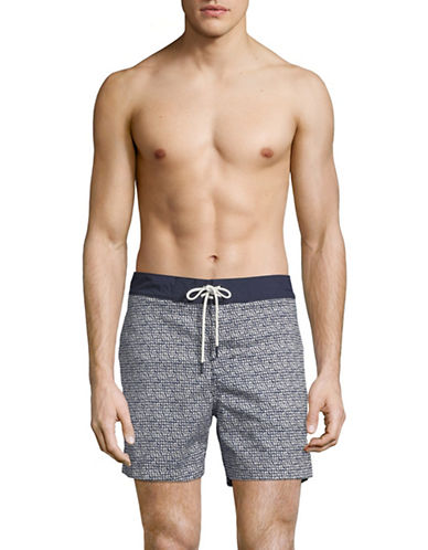 Tommy Hilfiger Gilbert Board Shorts-BLUE-Large