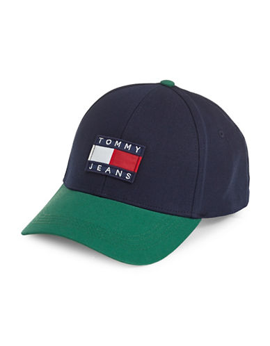 Tommy Jeans Cotton Baseball Cap-BLUE-One Size