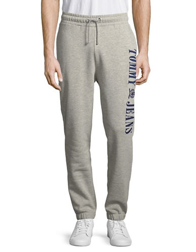 Tommy Jeans Pull-On Sweatpants-GREY-X-Large