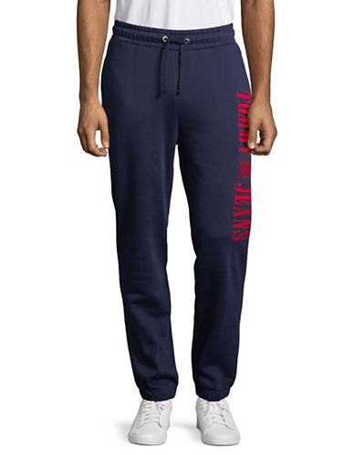Tommy Jeans Pull-On Sweatpants-BLUE-Medium